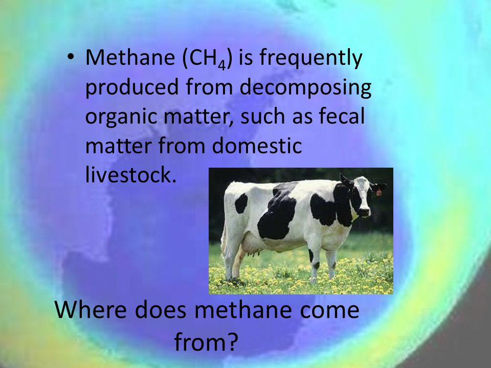 Where does methane come from.