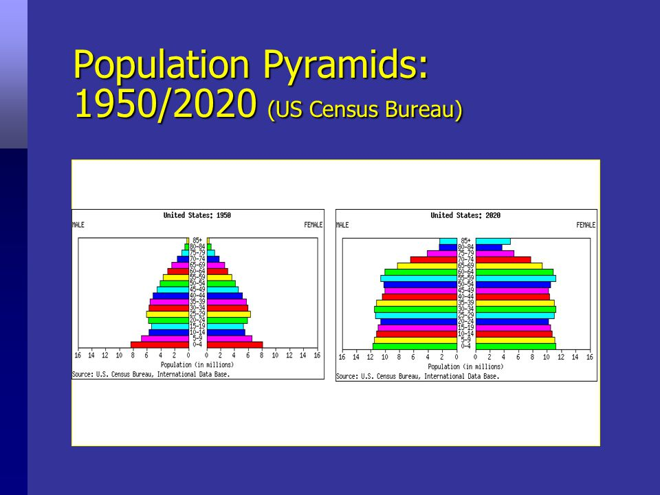 Changing structure of society Traditional aging pyramid New aging pyramidNew aging pyramid