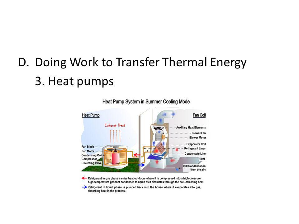 D.Doing Work to Transfer Thermal Energy 3.Heat pumps