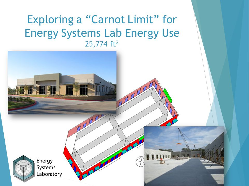 Exploring a Carnot Limit for Energy Systems Lab Energy Use 25,774 ft 2