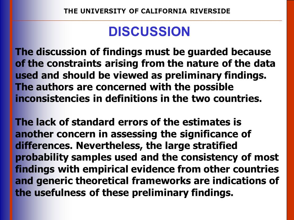 THE UNIVERSITY OF CALIFORNIA RIVERSIDE The University of Mississippi Institute for Advanced Education in Geospatial Science DISCUSSION The discussion