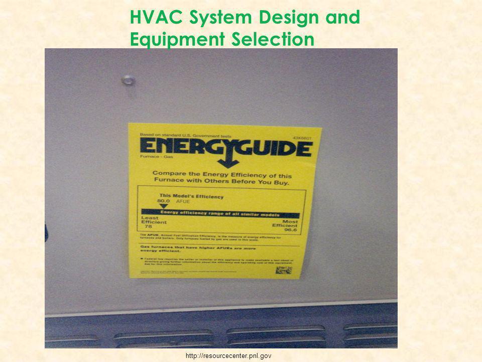 HVAC System Design and Equipment Selection http://resourcecenter.pnl.gov