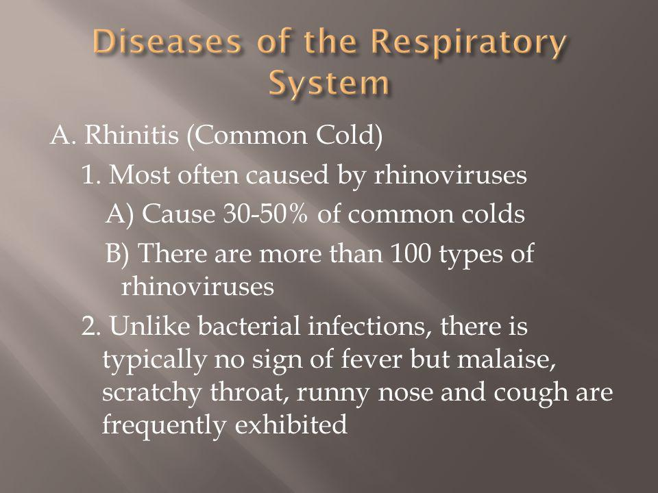 A.Rhinitis (Common Cold) 1.