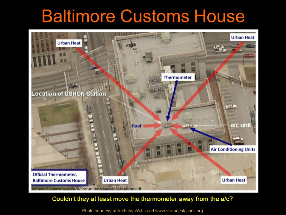 Baltimore Customs House Couldnt they at least move the thermometer away from the a/c.