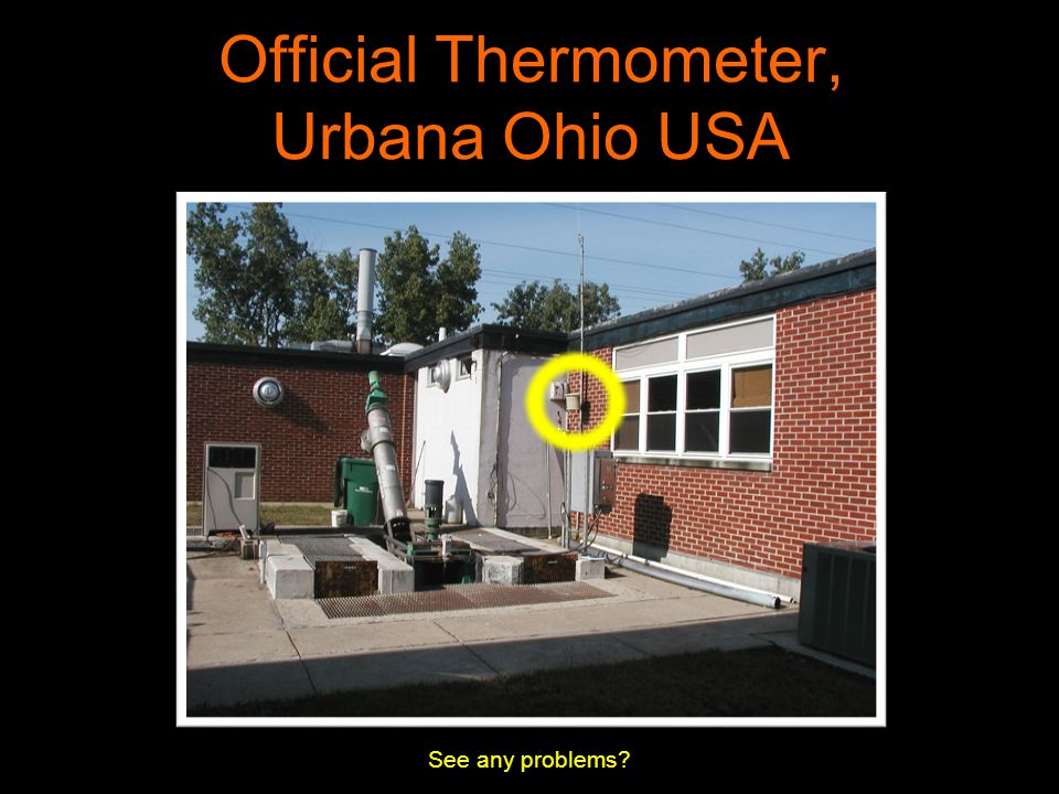 Official Thermometer, Urbana Ohio USA See any problems?