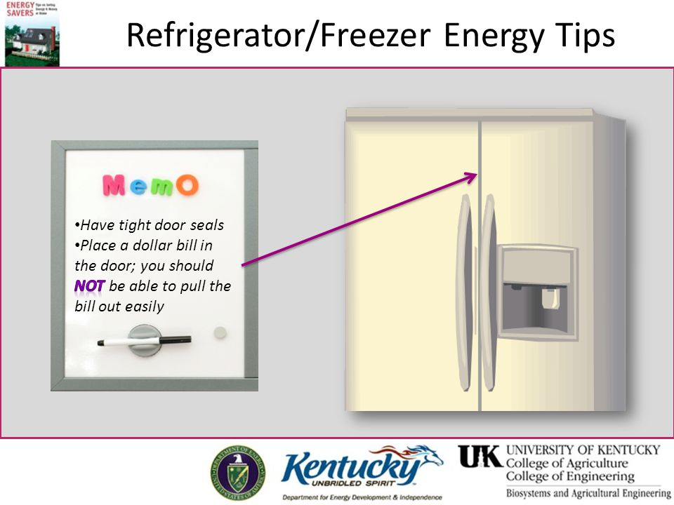 Refrigerator/Freezer Energy Tips