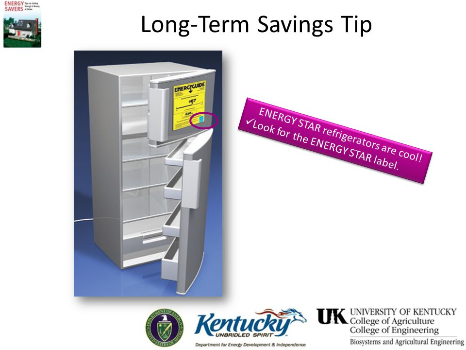 Long-Term Savings Tip ENERGY STAR refrigerators are cool.