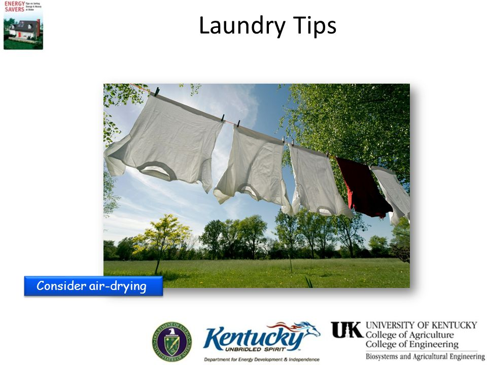 Consider air-drying