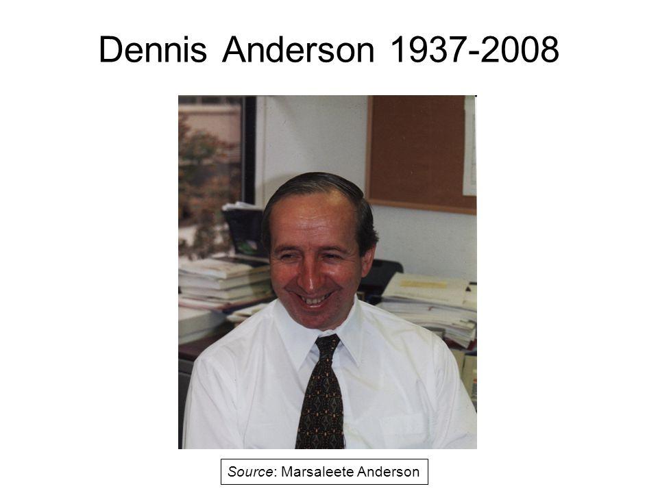 Dennis Anderson 1937-2008 Source: Marsaleete Anderson