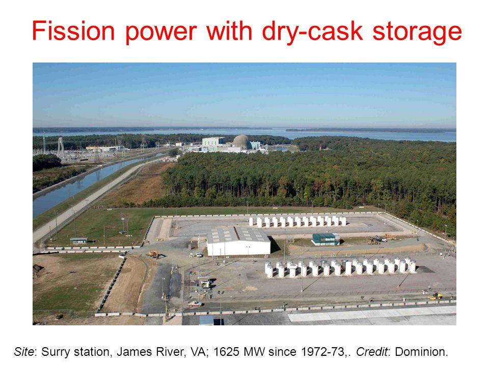Site: Surry station, James River, VA; 1625 MW since 1972-73,.
