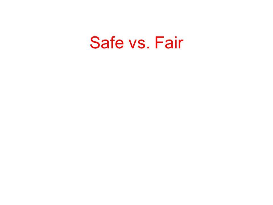 Safe vs. Fair