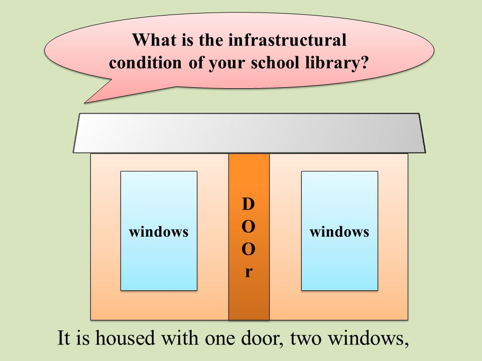 What is the infrastructural condition of your school library.