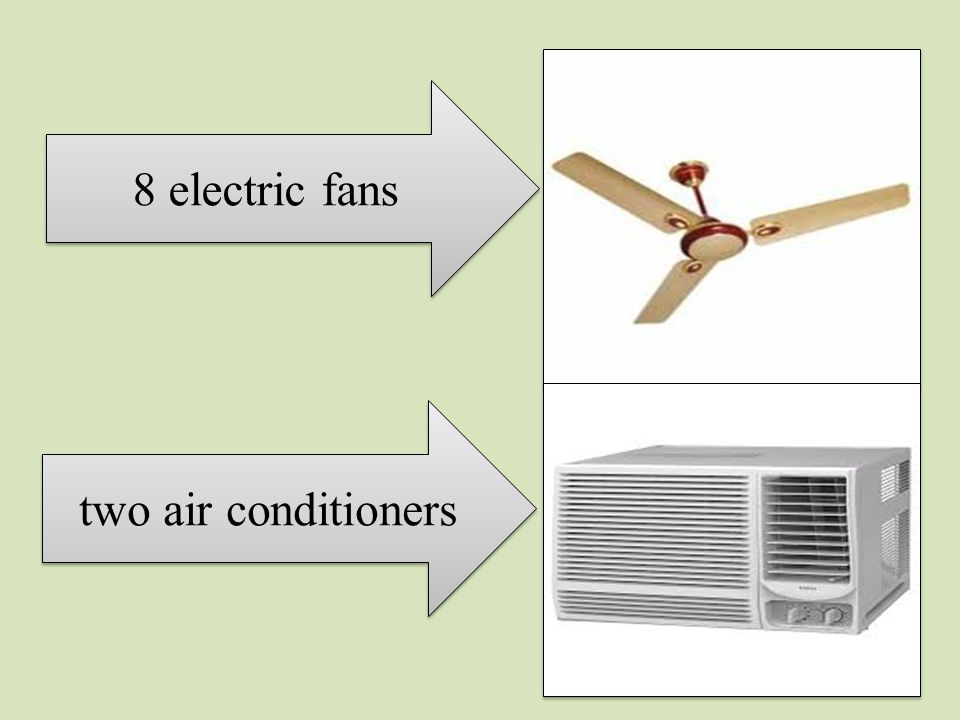 8 electric fans two air conditioners