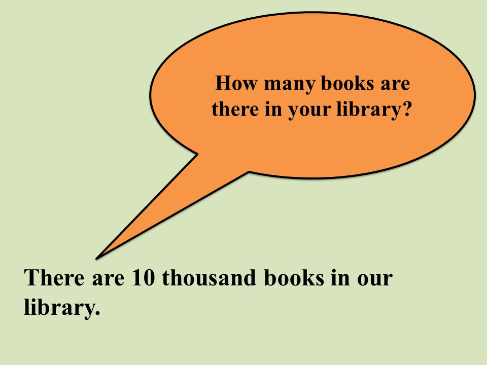 How many books are there in your library? There are 10 thousand books in our library.