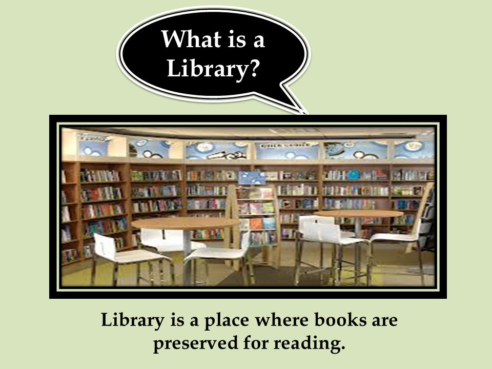 But what is a school library.