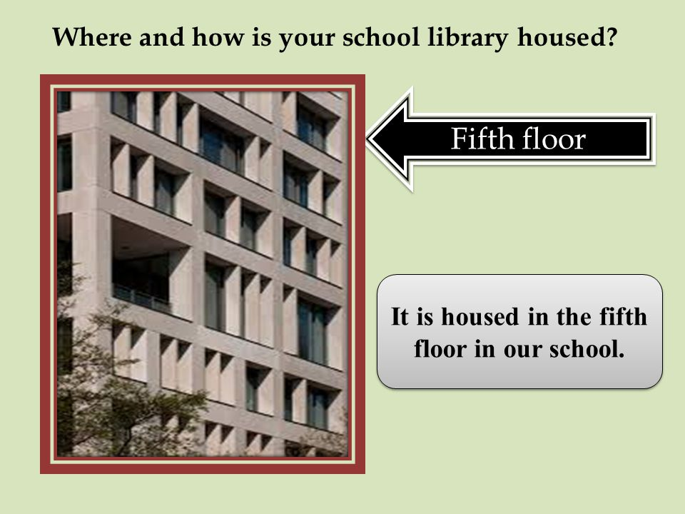 Where and how is your school library housed.