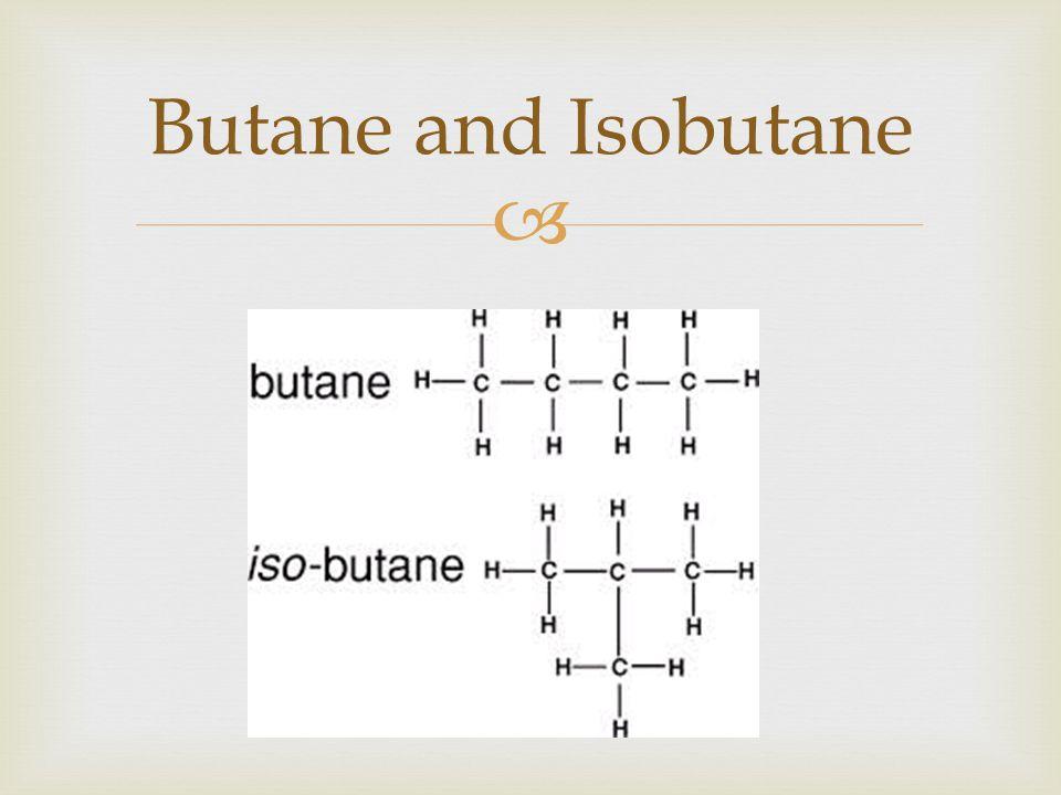 Butane and Isobutane