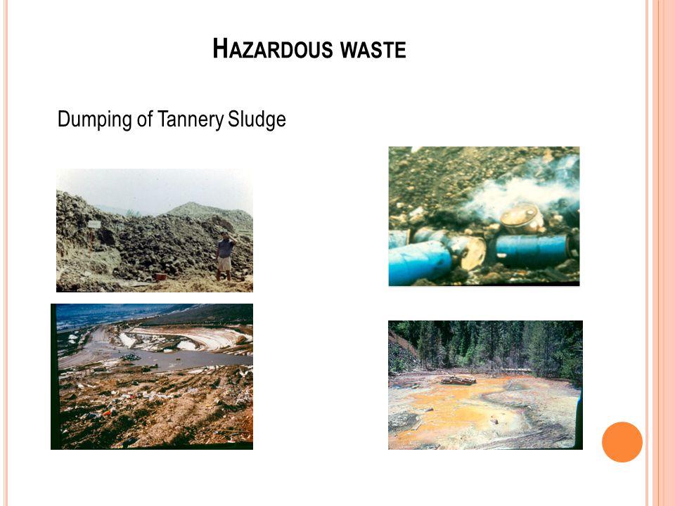 H AZARDOUS WASTE Dumping of Tannery Sludge