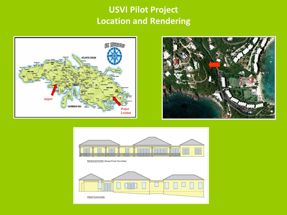 USVI Pilot Project Location and Rendering