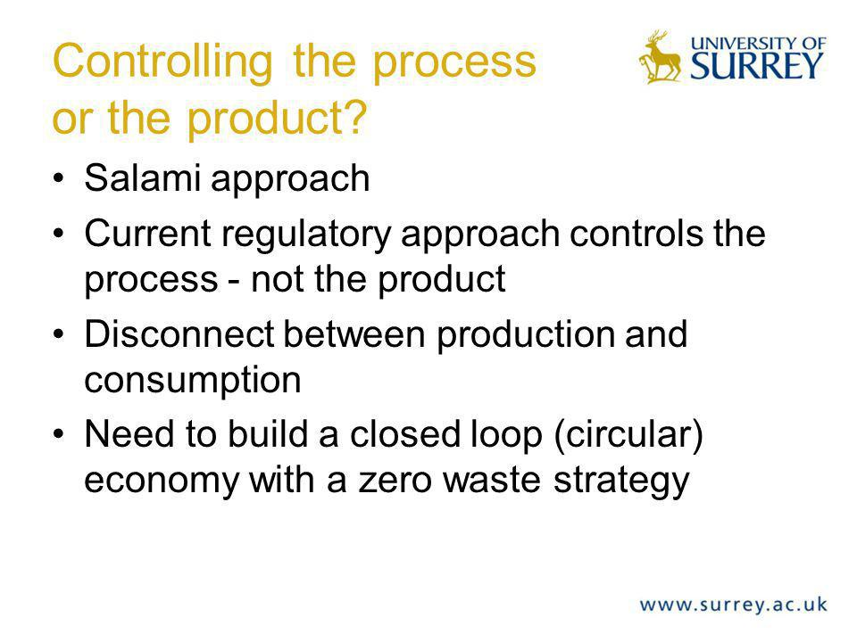 Controlling the process or the product.