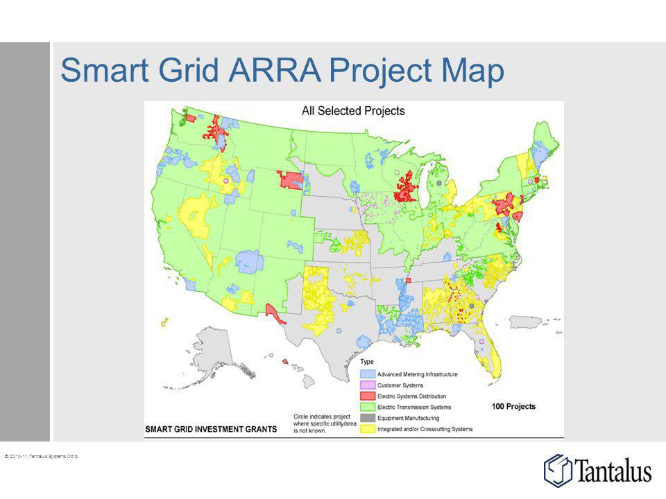 © 2010-11 Tantalus Systems Corp. Smart Grid ARRA Project Map