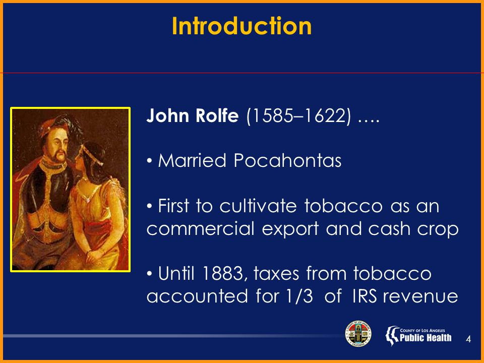 Native Americans used tobacco prior to the arrival of Columbus Consumption was for medicinal and ceremonial purposes Commonly smoked in peace pipes In