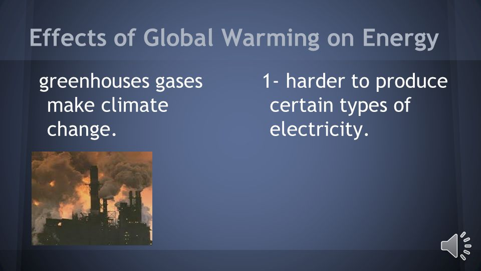 Causes of Global Warming 1- Air conditioning can make global warming.
