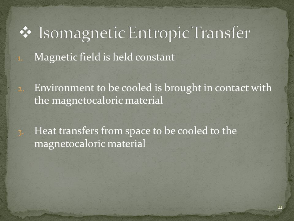 1. Magnetic field is held constant 2.