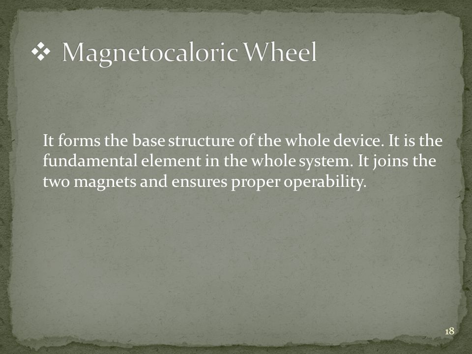 It forms the base structure of the whole device. It is the fundamental element in the whole system.