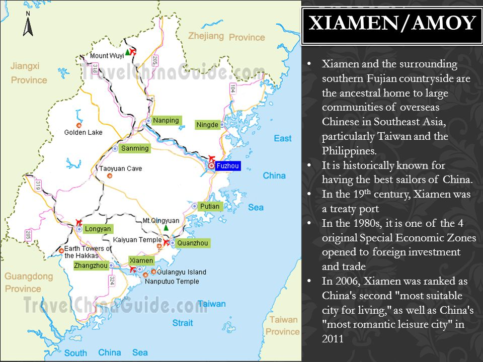 XIAMEN Xiamen and the surrounding southern Fujian countryside are the ancestral home to large communities of overseas Chinese in Southeast Asia, parti