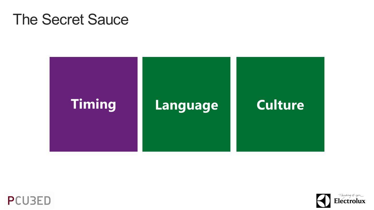 The Secret Sauce LanguageCulture