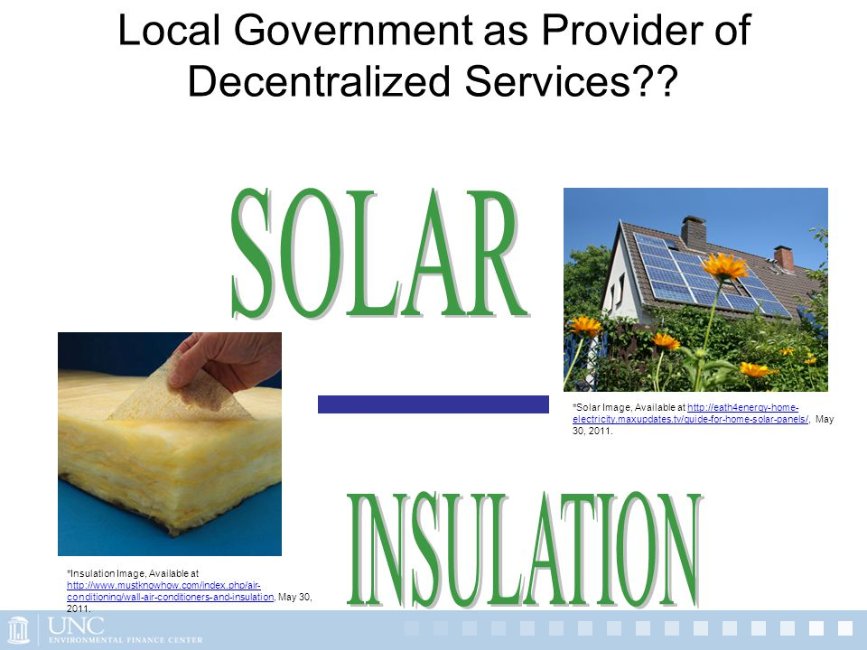 Local Government as Provider of Decentralized Services?.