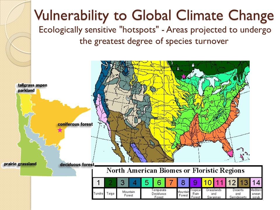 Vulnerability to Global Climate Change Vulnerability to Global Climate Change Ecologically sensitive