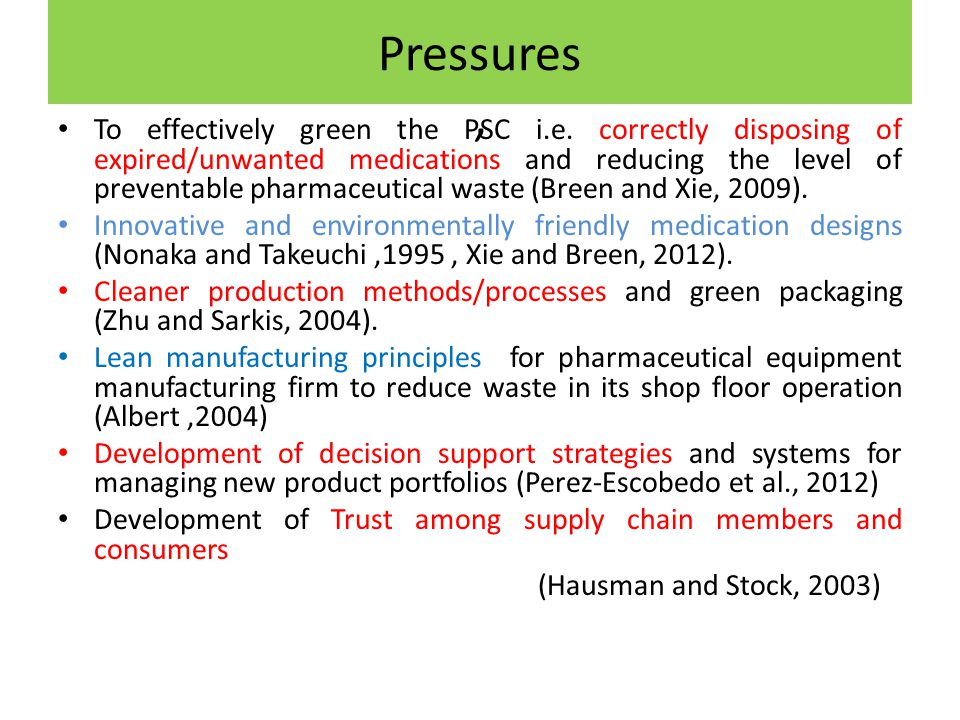 Pressures, To effectively green the PSC i.e.