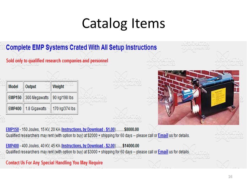 Catalog Items 16