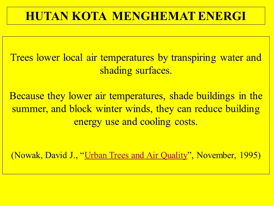 Trees lower local air temperatures by transpiring water and shading surfaces.