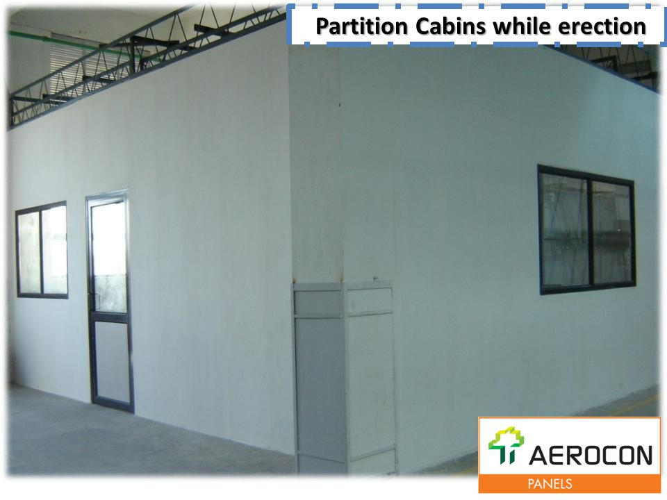 Partition Cabins while erection Partition Cabins while erection
