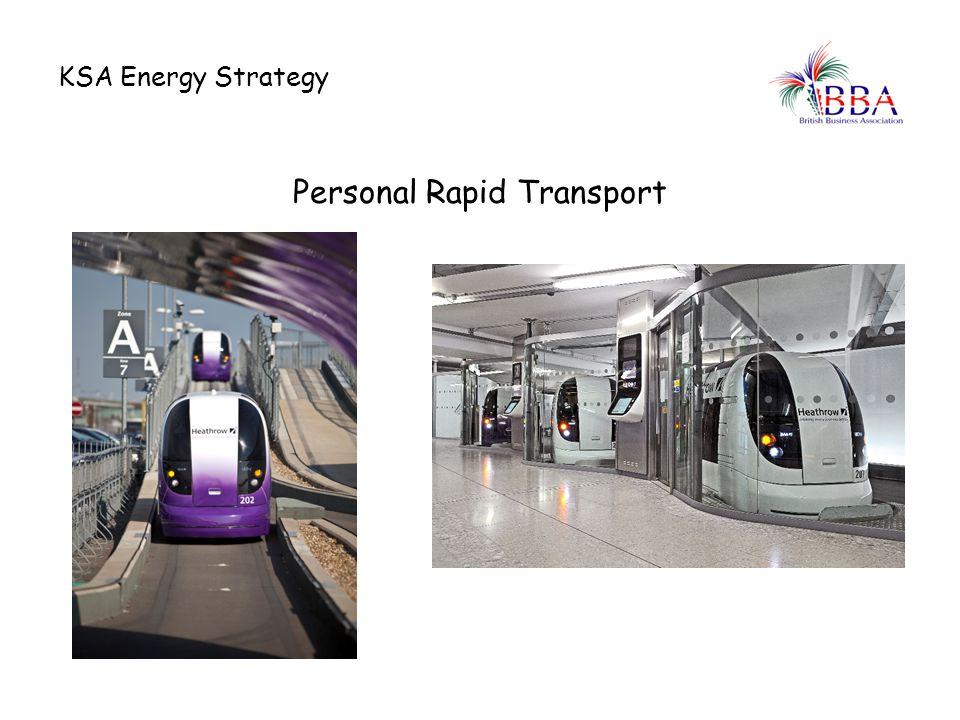KSA Energy Strategy Personal Rapid Transport