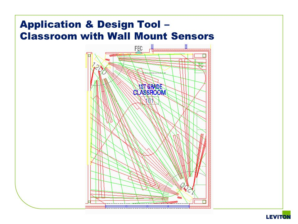 Application & Design Tool – Classroom with Wall Mount Sensors