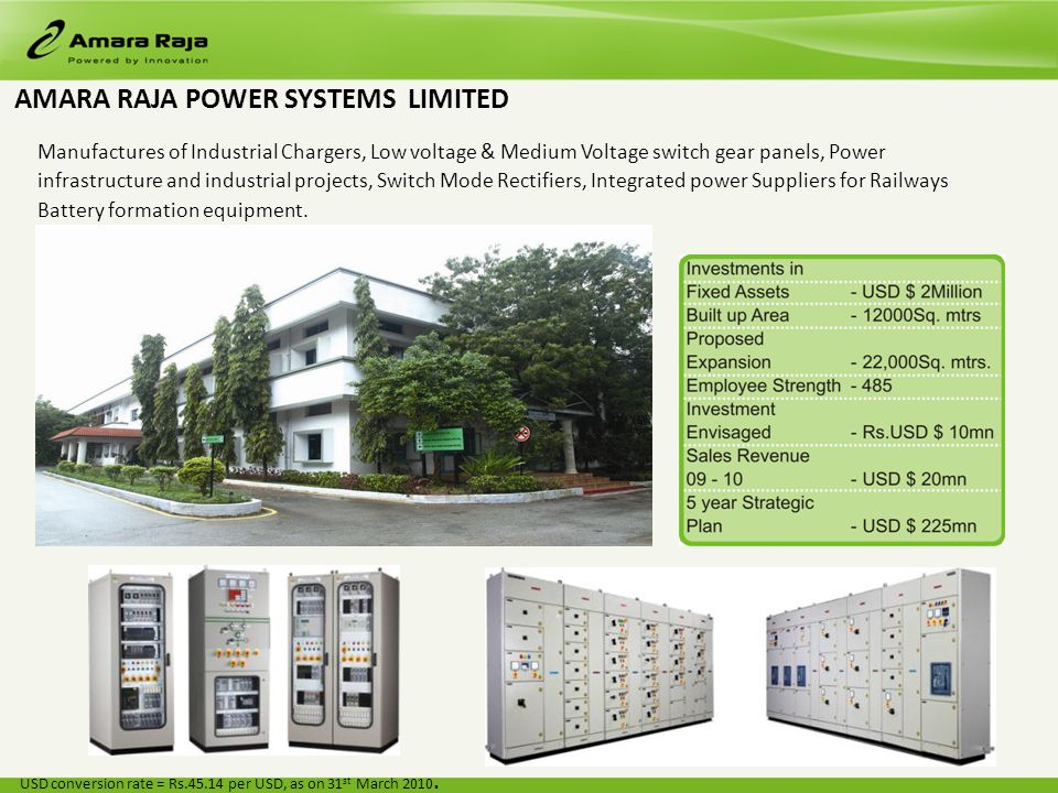 Manufactures of Industrial Chargers, Low voltage & Medium Voltage switch gear panels, Power infrastructure and industrial projects, Switch Mode Rectifiers, Integrated power Suppliers for Railways Battery formation equipment.