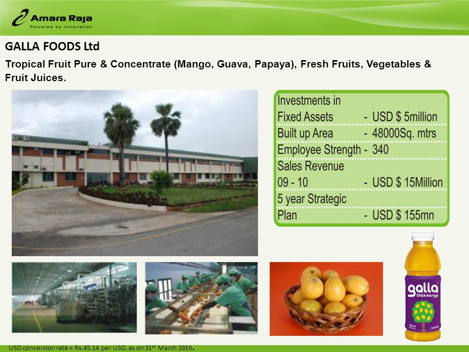 GALLA FOODS Ltd Tropical Fruit Pure & Concentrate (Mango, Guava, Papaya), Fresh Fruits, Vegetables & Fruit Juices.