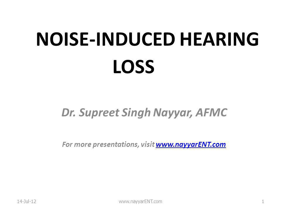 NOISE-INDUCED HEARING LOSS Dr.