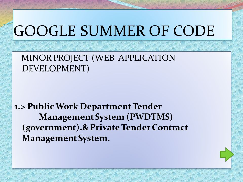 MINOR PROJECT (WEB APPLICATION DEVELOPMENT) 1.> Public Work Department Tender Management System (PWDTMS) (government).& Private Tender Contract Manage