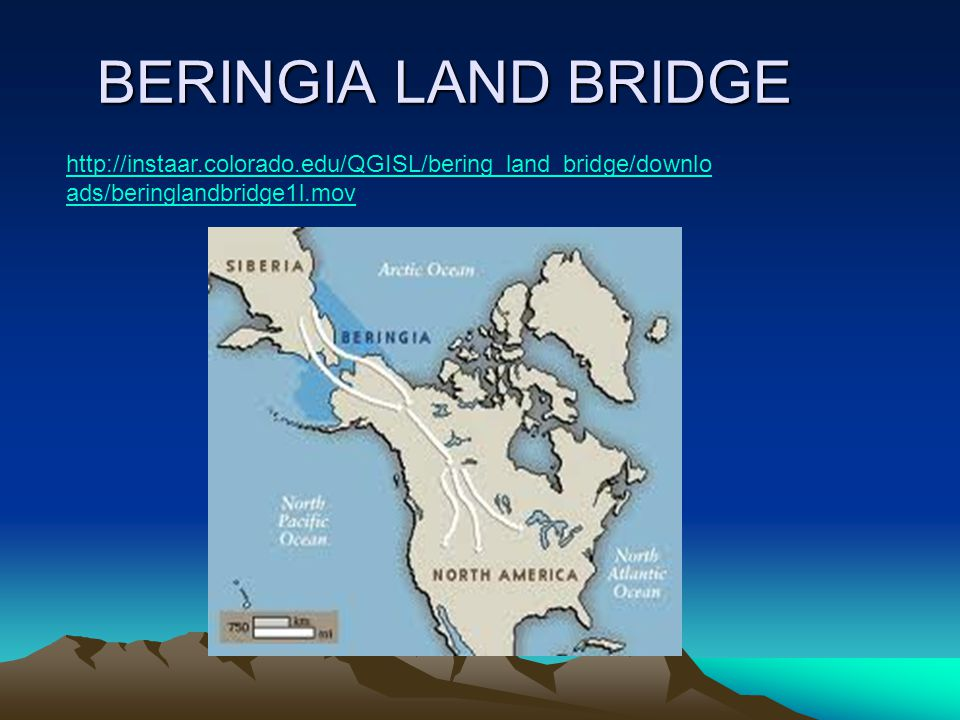 BERINGIA LAND BRIDGE http://instaar.colorado.edu/QGISL/bering_land_bridge/downlo ads/beringlandbridge1l.mov