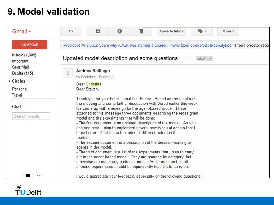 9. Model validation