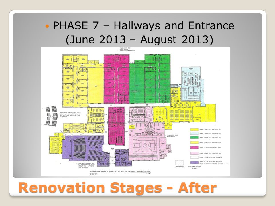 Renovation Stages - After PHASE 7 – Hallways and Entrance (June 2013 – August 2013)