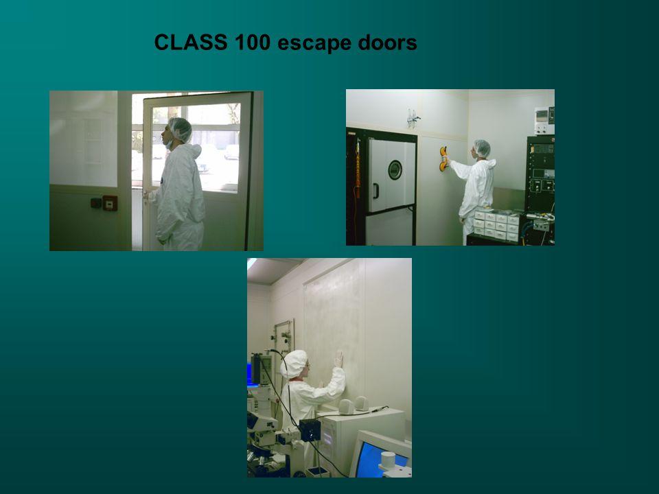CLASS 100 escape doors