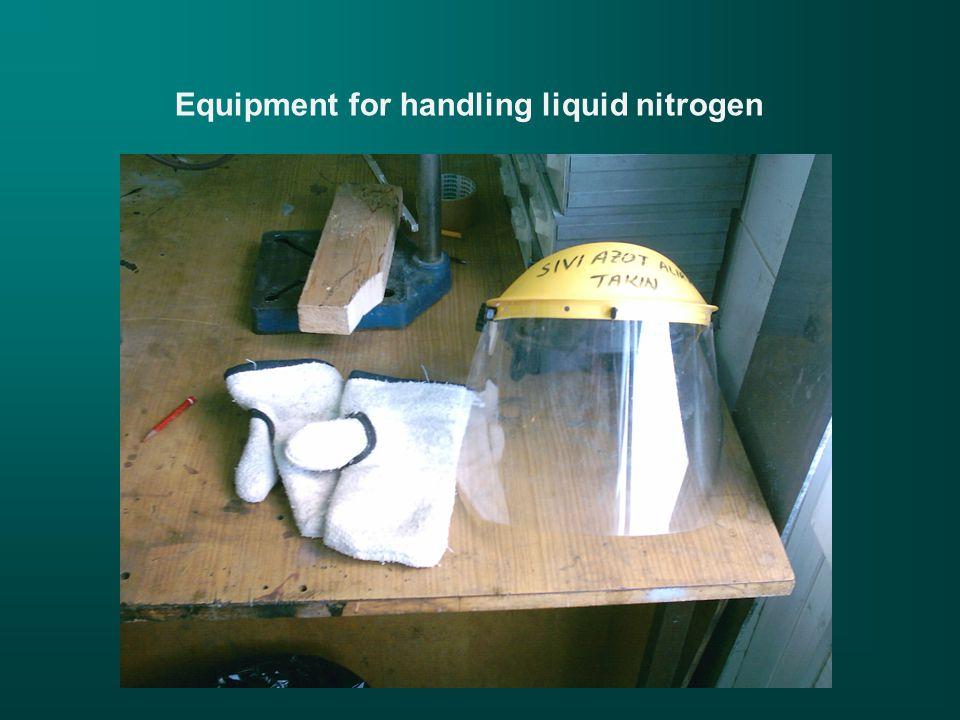 Equipment for handling liquid nitrogen