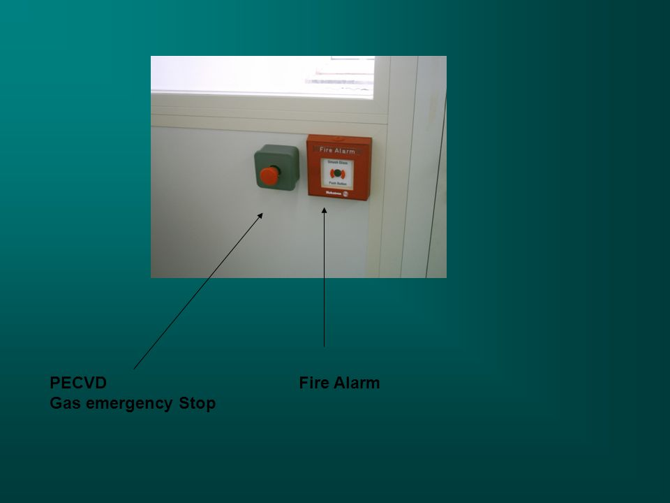 PECVD Gas emergency Stop Fire Alarm