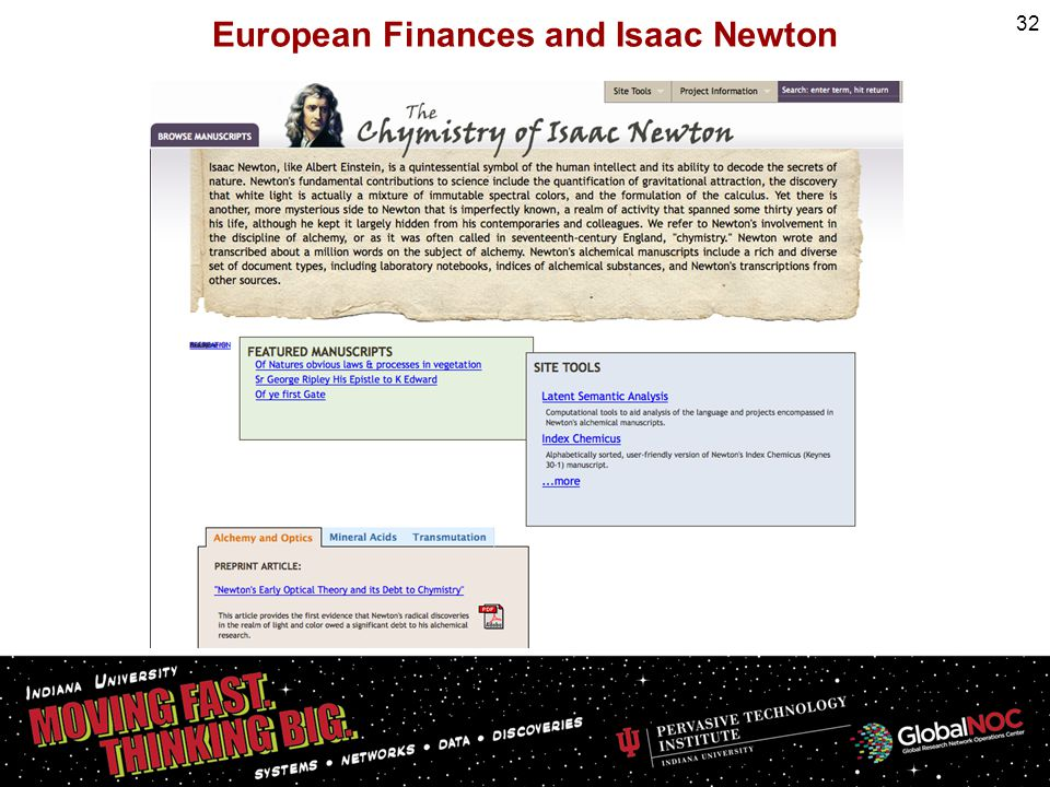 European Finances and Isaac Newton 32